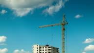 Development under clouds time lapse video