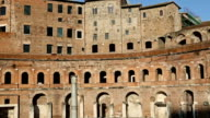Dezoom on the Trajan's Markets and Forum in Rome video