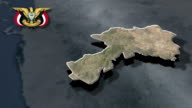 Dhamar with Coat of arms animation map video