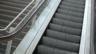 Diagonal capture of an escalator video