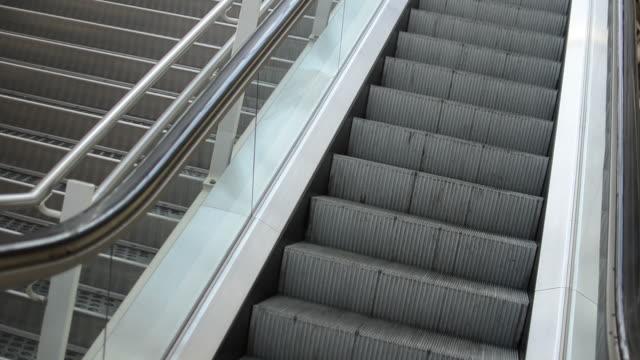 Diagonal capture of an escalator video