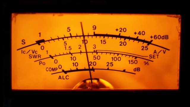 Dial Indicator Gauge Of The Transceiver and Signal Level Meter video