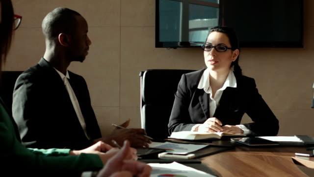 Dialog of businessman video