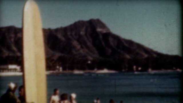 Diamond Head Surfing 1940's video
