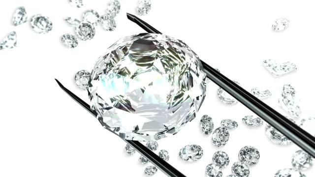 Diamond in tweezers video