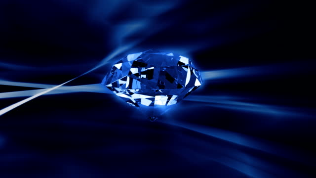 Diamond rotating against abstract background,seamless loop video