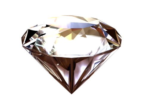 Diamond spinning video