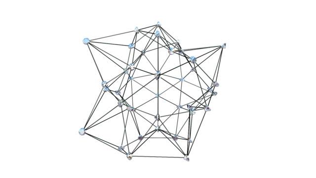 Diamonds Atom Shape, against white video