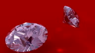 Diamonds dropping by, ending off frame video