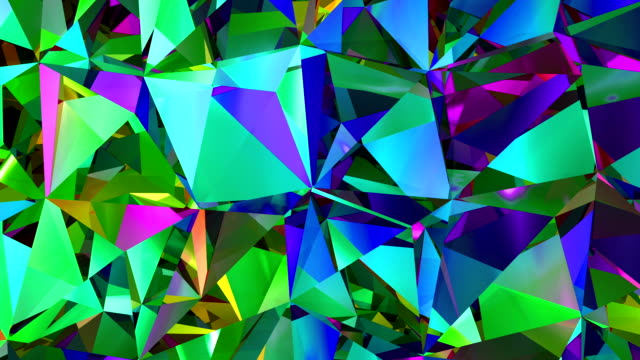 Diamonds Refraction Background Looped. HD 1080. video