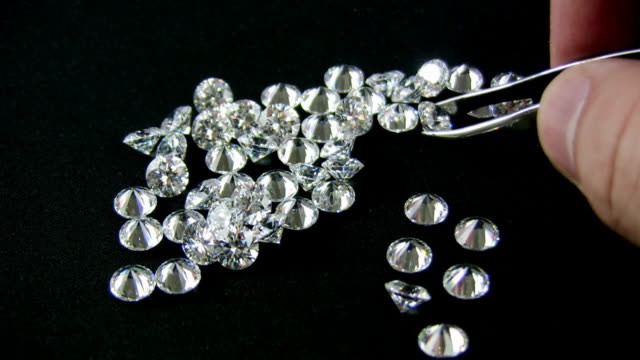 Diamonds Selected by Loupe (HD) video
