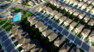 Diangol New Suburb Outside of Austin Texas near Round Rock aerial house after house after house video
