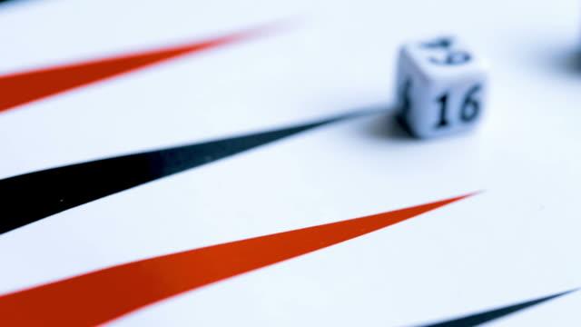 Dice on backgammon field video