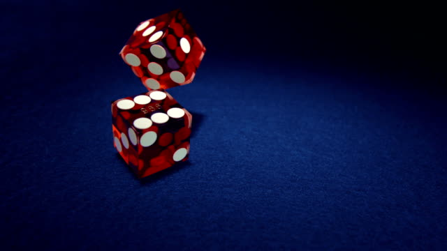 Dice rolling, Slow Motion video