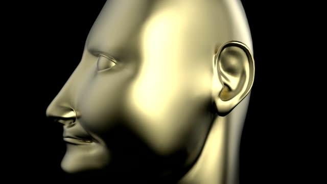 Dictator's head on statue video