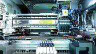 IC die bond machine. timelapse video