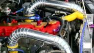 Diesel racing car engine video