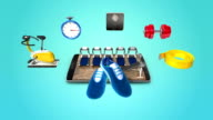 Diet and Fitness,exercise application for smart phone,mobile,tablet video
