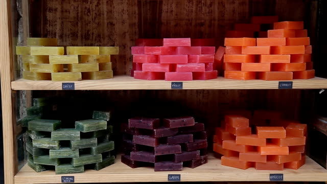 different handmade soaps video