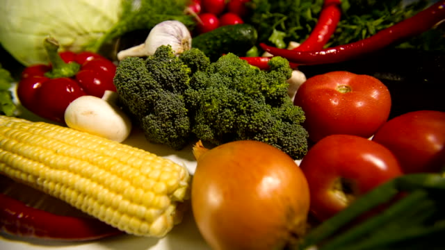 Different Raw Vegetables video
