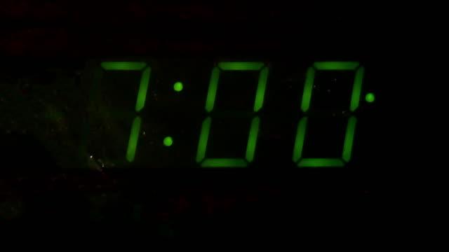 digital alarm clock counting down video