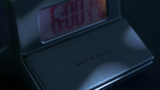 Digital Alarm clock wake up snooze video