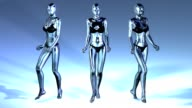 Digital Animation of three walking Manikins video