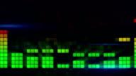 digital audio meter equalizer loopable background video