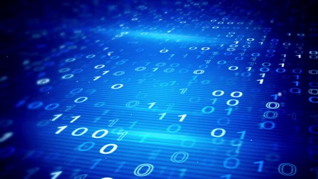 digital binary data loopable background video