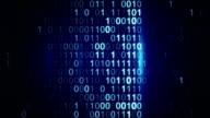 digital binary data scan loop background video