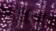 3D Digital City Abstract Background video