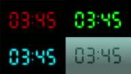 Digital clock. 4 in 1 file. Loopable. video