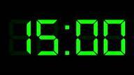 digital clock full 12-24h time-lapse video