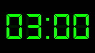 digital clock full 12h time-lapse video