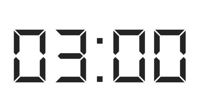 digital clock full 12h time-lapse video
