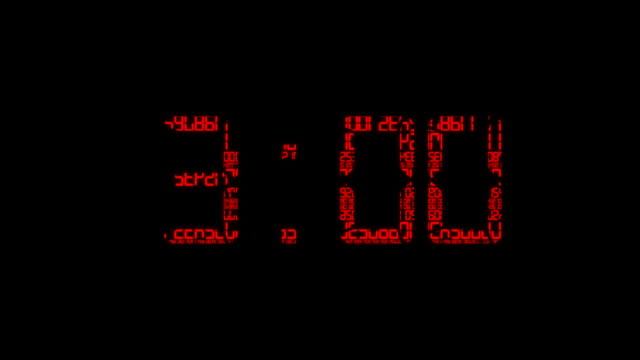 Digital Clock video