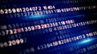 digital code on screen seamless loop video