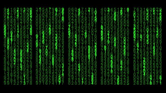 Digital Computer Code Data video
