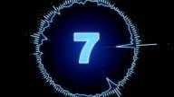 digital countdown animation video
