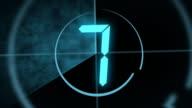 Digital Countdown Leader video