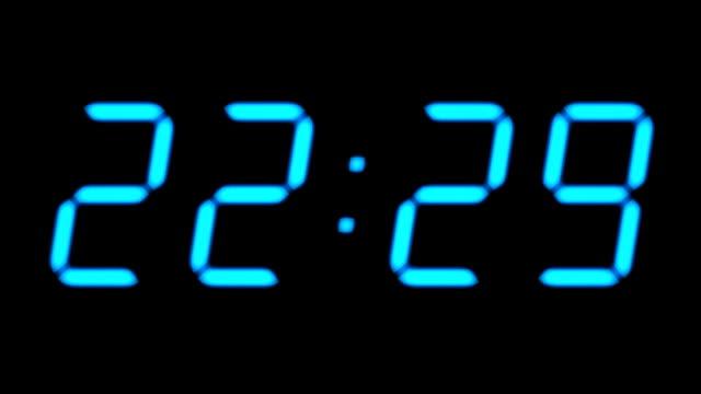 Digital countdown timer video