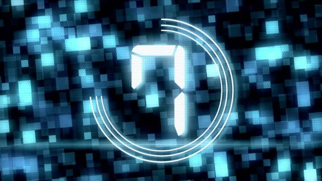 Digital Countdown video