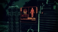 Digital Cybernetic City Security Breach, PART 2 - Stock video video