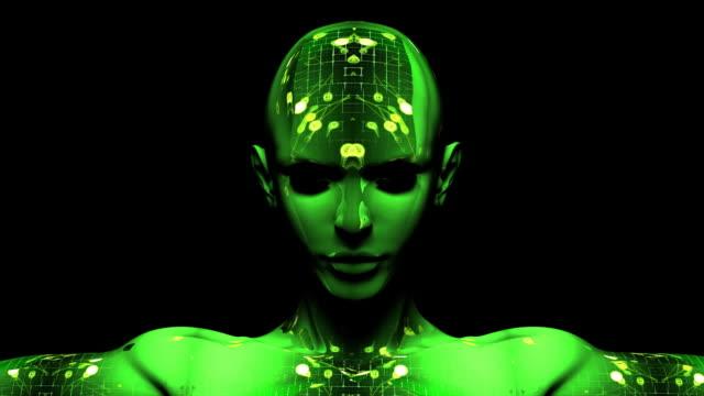 Digital Cyborg Woman video