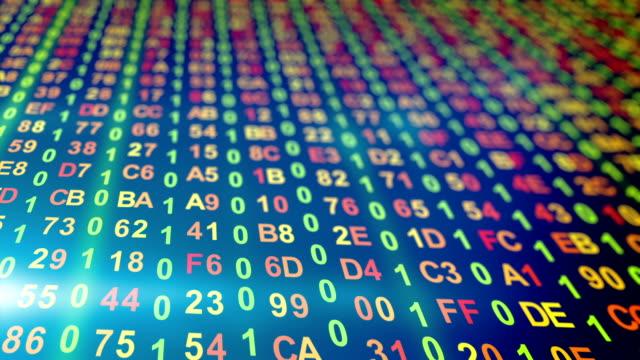 digital data columns loopable background video