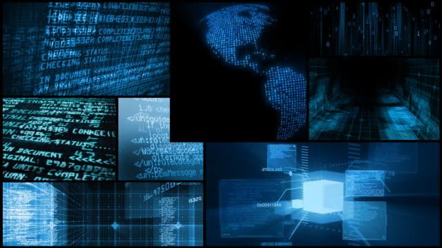 Digital Data Network Global Technology Montage video