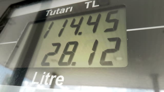 Digital Display of a Fuel Pump in Gas Station video