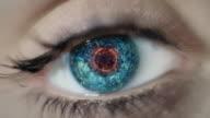 Digital Eye. Close-up video