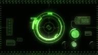 Digital Hud. Green. video