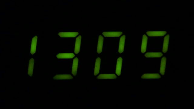 Digital led counter from thirteen video
